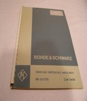 Original Handbücher Rohde & Schwarz