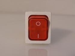 Wippschalter Rot 2-polig 16A 250V
