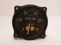 Aircraft JAEGER TACHAMETER Anzeige Type N.651
