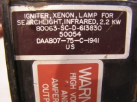 Igniter,Xenon,Lamp for Searchlight Infrared 2,2  KW