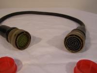 Souriau Verbindungskabel von 16G24B61PNB auf 16G24B61SNB Kabel : L.ca. 700 mm 5995-12-158-5105