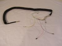 Telefon Hörerschnur Spiralkabel Hörerkabel schwarz 6-Adrig NEU