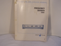 Hewlett Packard Frequency Divider 5260A Service Manual