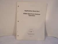 Hewlett Packard 8568A Spectrum Analyzer Operation