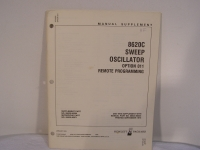 Hewlett Packard 8620C Sweep Oscillator Manual