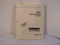 HP 8656A Signal Generator 0,1-990 MHz Operating and Service Manual