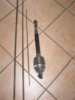 JEEP ANTENNE MP-65-A/1 Militär BW mit BLITZSCHUTZ 2,50 Meter Stäbe