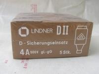 1x 25 Stück Lindner gL-gG Sicherungen DII-Schmelzeinsätze 4A 500V