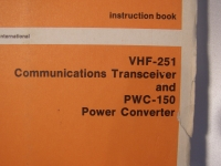 Collins Instruction Book VHF-251 and PWC-150