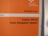 Collins Instruction Book VIR-30 Radio Navigation System