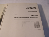 Collins Instruction Book DME-451 Distance Measuring Equipment