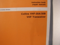 Collins Instruction Book VHF-20A/20B VHF Transceiver