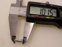 Flugzeugbau Senkkopf Nieten Aluminium L ca. 10,10 mm x D ca.3,90 mm (100 Stück)