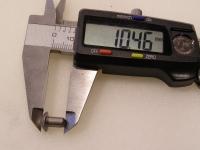Flugzeugbau Linsenkopf Nieten Stahl L ca. 10,40 mm x D ca.4,80 mm (100 Stück)