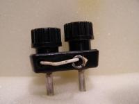 Sicherungs-Steckverbinder 4 mm  Polklemme Schwarz  1x 2Stück
