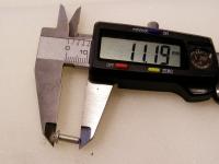 Flugzeugbau Linsenkopf Nieten Aluminium L ca. 11,20 mm x D ca.3,20 mm (100 Stück)