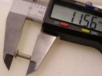 Flugzeugbau Linsenkopf Nieten Aluminium L ca. 11,60 mm x D ca.3,20 mm (100 Stück)