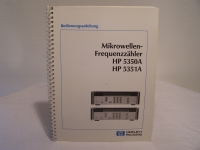 HP Mikrowellen-Frequenzzähler HP5350A HP 5351A Bedienungsanleitung
