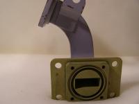 Rechteckiger Hohlleiter Hochfrequenz Bauteil 90 Grad Winkel ca.B29mm x H13mm