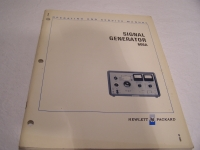Hewlett Packard Operating and Service Manual Signal Generator 606A