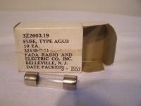 Sicherung  Fuse Type AGU3 Glassicherung