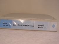 Rohde & Schwarz Manual Microsoft MS-DOS 5.0 User´s Guide and Reference