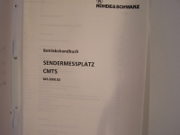 Rohde & Schwarz Sendermessplatz CMTS 845.2000.02 Betriebshandbuch